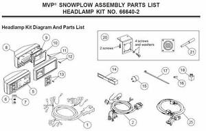 Western Plows 66640 2 Mvp Plow Assy Headlamp Kit 12 Pin Mvp Unimount