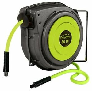 Flexzilla Zillareel Auto Retractable Mountable Air Hose Reel 3 8 X 30 Hose