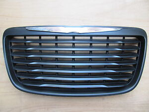 Chrysler 300 300c Matt Black Grille 2011 2014 Modified Emblem Trim Ch1200351