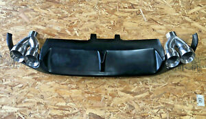 Stainless Dual Exhaust Tips 3 0 4 0 Ford Mustang Gt500 Diffuser Panel 2013 2014