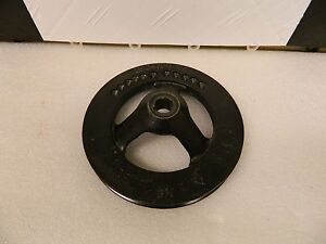 Used Original Deep Groove Cast Power Steering Pump Pulley 1965 74 Corvette 327