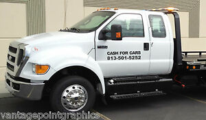 Cash For Cars Decal For Cars Trucks Tow Trucks Wreckers Rollbacks Etc