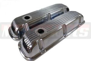 Sbf Small Block Ford Finned Aluminum Valve Cover 289302 351w 5 0l Mustang Falcon