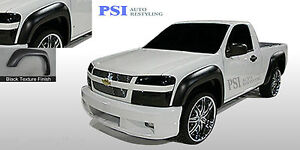 Black Textured Extension Fender Flares 2004 2012 Chevrolet Colorado Gmc Canyon