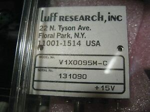 Luff Research Vco Voltage Controlled Oscillator V1x0095m c new