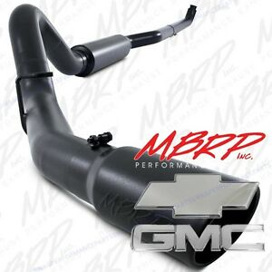01 07 Duramax 6 6l Mbrp Turbo Back Black Series Exhaust S6004blk Off Road