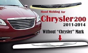 Chrysler 200 2011 14 Wing Hood Molding Grille Modified Emblem Badge 05182602ab