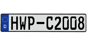 Audi Bmw Mini Cooper Genuine German License Plate Your Text Custom Vw