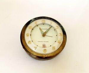 Vintage 1950s Automobile Alarm Clock With Date Chambord West Germany Parts