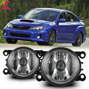 12 17 For Subaru Clear Lens Pair Bumper Oe Fog Light Lamp Wiring Switch Kit Dot