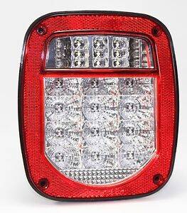 Bright Red Jeep Tj Cj Yj Jk Replacement Tail Light Without Led s Illuminator