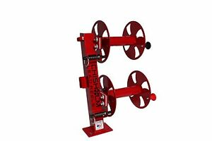 10 Red Heavy duty Fixed base Double Welding Cable Lead Reel
