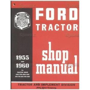 Ford Tractor Factory Shop Service Repair Manual 600 700 800 900 2000 4000 New