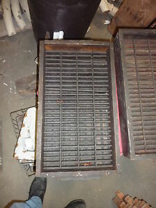 Salvaged Antique Wooden Warehouse Factory Box Tray Great Decor Storage 23 X 13