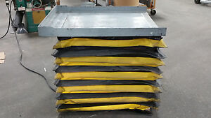 Autoquip Hydraulic Lift Table M n 24s25 2 500 Lb Capacity 33 x41 Table 480v 3ph