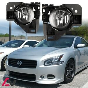 09 15 For Nissan Maxima Clear Lens Pair Oe Fog Light Lamp wiring switch Kit Dot