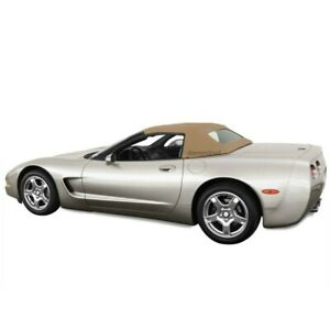 Chevrolet Corvette C5 1998 04 Convertible Soft Top Glass Window Tan Cloth