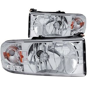 1994 2002 1500 2500 3500 Dodge Ram Anzo Clear Replacement Headlights W L e d s