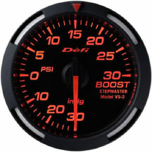 Defi Df06502 Red Racer Gauge 52mm 30psi Boost Meter Gauge