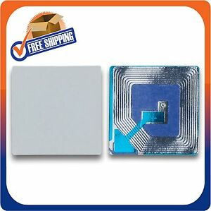 1000 Paper Security Label 1 5x1 5 Inch Rf 8 2mhz White Checkpoint Compatible Eas