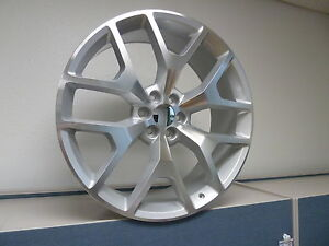 New 4 26 Set Silver Machine Gmc Sierra Chevy 1500 Silverado Tahoe Wheels Rims
