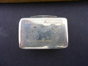 Sterling Silver Antique Vinaigrette Box Georgian C 1830 England By Thomas Shaw