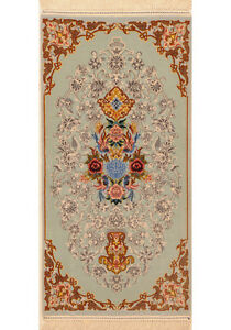 Blue 2 X 4 Isfahan Rug Hand Knotted Persian Rug