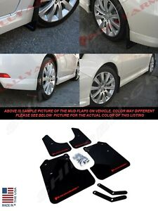 Rally Armor Ur Black Mud Flaps W Red Logo For 2008 2011 Impreza And 08 10 Wrx