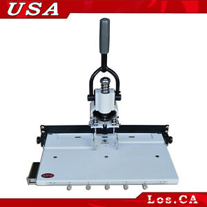 Paper Hole Drill Punch Machine 1 4 6mm Hole 300 Sheets Two Cut Die Moulds