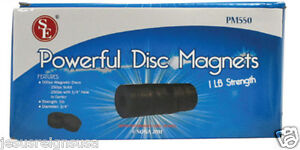 500 Pc Round Disc Magnets Ferrite Strong Craft Home 3 4 Solid 1 4 Hole