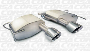 Corsa 2011 2015 Cadillac Cts v Coupe Axleback Exhaust System With Polished Tips