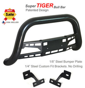 Super Tiger Bull Bar Fits 99 02 Toyota 4runner Black Powdercoated Bumper Guard