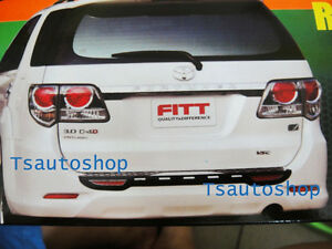 Fitt Rear Bumper Step Plate Guard Cover For New Toyota Fortuner 2011 2013