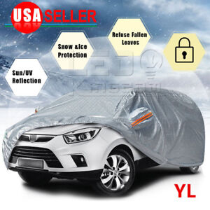 Suv Car Cover Waterproof Auto Protection All Weather Sun Uv Rain Snow Resistant