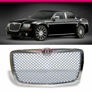 Fits 04 10 Chrysler 300 300c Chrome Vip Mesh Front Hood Grille Grill