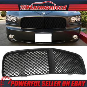 Fits 05 10 Dodge Charger Black Mesh Front Hood Grill Grille Abs