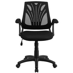 Mid back Black Mesh Task Chair With Arms Office Chair