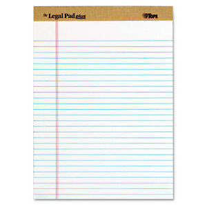 The Legal Pad Ruled Perforated Pads Legal wide 8 1 2 X 11 3 4 White Dozen