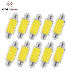 10x 6000k 42mm Festoon White Cob Led Map Dome Interior Lights Bulbs 578 211 2 Us