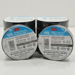3m Black Electrical Tape Temflex 1700 3 4 X 60 Ft 10 Rolls Fast Free Shipping