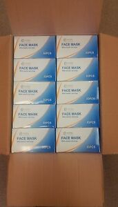 2 000 Masks 1 Case 40 Boxes Surgical Disposable 3 ply Earloop Face Masks