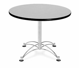 36 Round Cafe Table With Gray Laminated Top Table Height Restaurant Table