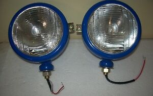 New 2000 2600 3000 3600 3610 4000 5000 7000 Ford Tractor 12v Blue Headlights