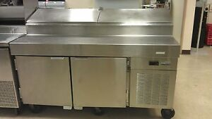 Traulsen Vps66s 66 2 Door Refrigerated Pizza Prep Table