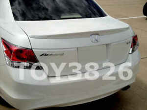 08 11 Honda Accord 4dr Lip Spoiler Rear Factory Style Wing Painted