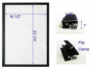 Led Backlit Box Signage Display Board 19 x 26 Black Aluminum Frame