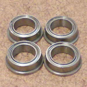 1 8 Inch Bore 4 Radial Ball Bearing flanged 1 8 X 1 4 X 7 64 Lowest Friction