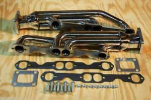 T4 Chevy Camaro Trans Am Firebird 350 305 Twin Turbo Headers Tt Sbc Gm Manifolds