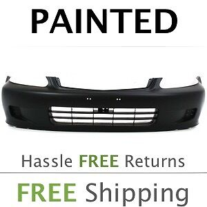 Fits 1999 2000 Honda Civic Coupe Sedan Hatchback Front Bumper Cover Painted