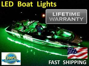 Led___boat___lights___ Universal Exterior Accent Pontoon Fishing Diy Kit New